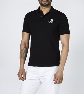 Polo factory Black Cotton Polo T-Shirt