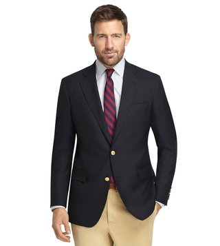 Brooks Brothers Navy Regent Fit Two Button Blazer