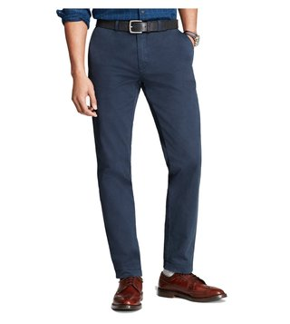 Brooks Brothers Red Fleece Navy Slim Fit Garment Dyed Chinos