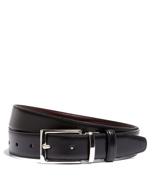 Brooks Brothers Black & Dark Red Leather Reversible Belt