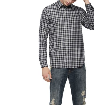 Diesel Vapourous Grey S-Cull-A Camicia Shirt