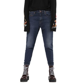 Diesel Lightly Washed Blue Denim Candys-Ne Sweat Boyfriend Jeans