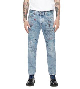 69828d0d Diesel Printed Blue Mharky L.32 Pantaloni Skinny Fit Jeans ...