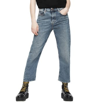 Diesel Rinse Washed Blue Denim Aryel L.32 Pantaloni Straight Fit Jeans