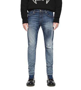 cadf938f Diesel Tattered Blue Thommer L.32 Pantaloni Skinny Fit Jeans ...
