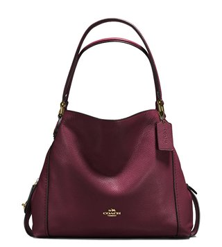 53abc93c36 Coach Light Oxblood Leather Edie 31 Shoulder Bag ...