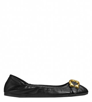 Coach Black Signature Buckle Stanton Ballet Ballerinas