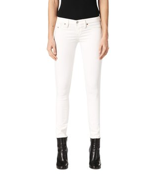 Diesel Raw Denim Bright White Skinzee-Low-S L.32 Pantaloni Skinny Fit Jeans