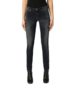 Diesel Tattered Blue Skinzee-Ne Sweat Skinny Fit Jeans