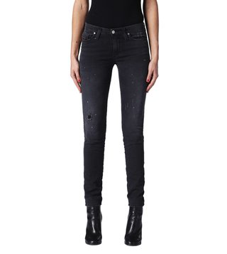 Diesel Tattered Black Skinzee-Ne Sweat Skinny Fit Jeans