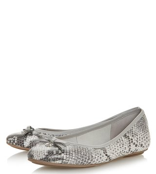 Dune London Grey Harps Ballerinas
