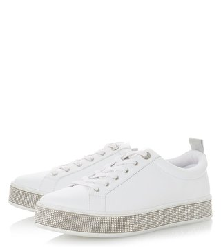 Dune London White Electrik Sneakers