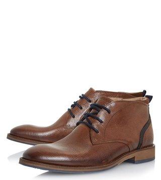Dune London Tan Leather Callahan Boots