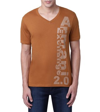 Armani Exchange Caramel Vertical Logo 2.0 T-Shirt