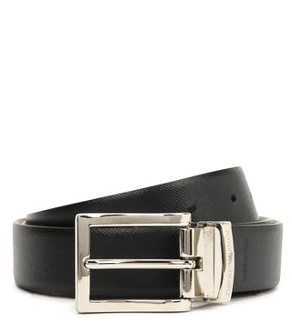 Emporio Armani T.Moro & Nero Reversible Leather Belt