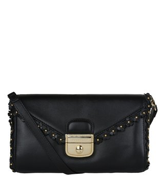 Longchamp Black Le Pliage Heritage Luxe Small Clutch