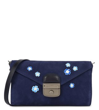 Longchamp Navy Le Pliage Heritage Luxe Small Clutch