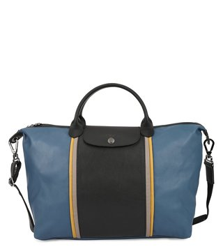 Longchamp Pilot Blue Ruban Medium Tote
