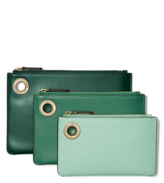 MICHAEL Michael Kors Racing Green Multi Medium Pouch - Pack Of 3