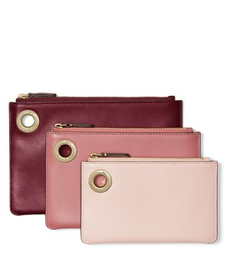MICHAEL Michael Kors Oxblood Multi Medium Pouch - Pack Of 3