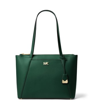 48b6d6e0ca99 MICHAEL Michael Kors Racing Green Maddie Medium Tote ...