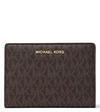 MICHAEL Michael Kors Brown & Black Small Money Pieces Card Holder