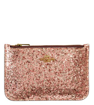 Coach Metallic Rosegold Small Card Case
