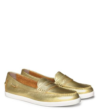 Cole Haan Gold Pinch Weekender Leather Loafers