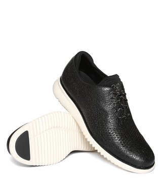 Cole Haan Black Zerogrand Laser Wingtip Sneakers