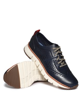 Cole Haan Navy Zerogrand Laser Perforated Sneakers