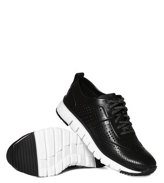 Cole Haan Black Zerogrand Laser Perforated Sneakers