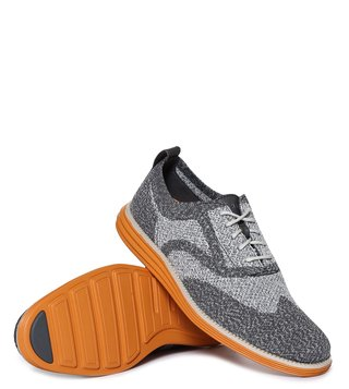 Cole Haan Grey Originalgrand Knit Wingtip Grand Sneakers