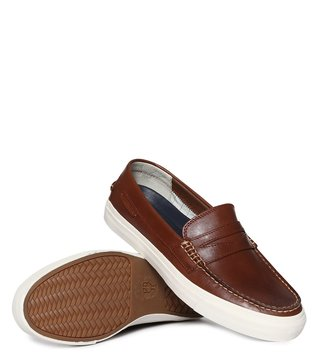 Cole Haan Tan Pinch Weekender Penny Loafers