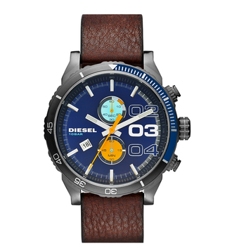 Diesel DZ4350 Blue Double Down 2.0 Chrono Analog Watch For Men