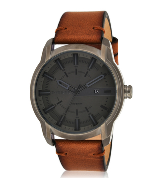 Diesel DZ1869 Grey Armbar Analog Watch For Men