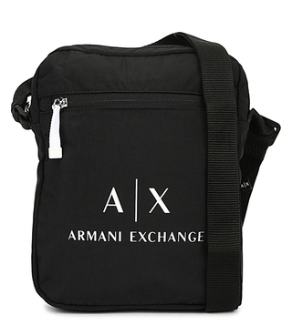 de87c9df5896 Armani Exchange Nero Classic Logo Messenger Bag ...