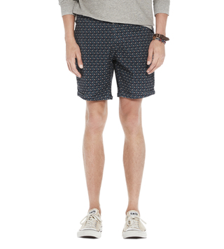 Scotch & Soda Blue Classic Garment Dyed Shorts