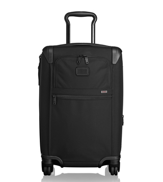 Tumi Black Alpha 2 International Expandable 4 Wheeled Carry-On Luggage