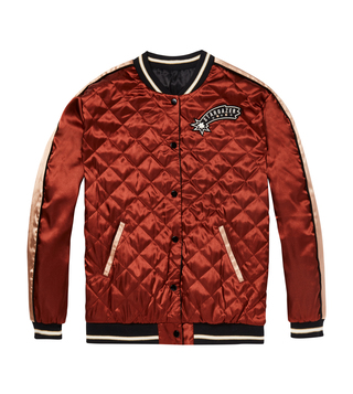 Scotch & Soda Red Reversible Bomber Jacket