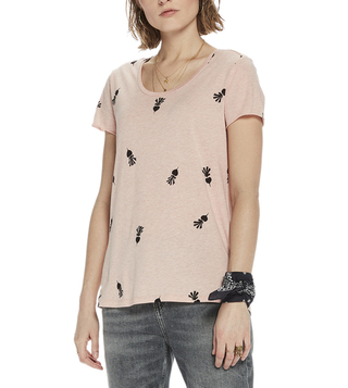 Scotch & Soda Pink Relaxed Fit T-Shirt