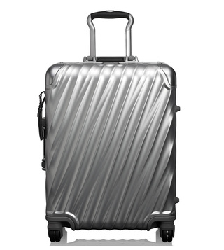 Tumi Silver Hard Shell Aluminum Continental Carry-On Luggage