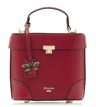 Dune London Red Synthetic Duffie Cross Body Bag