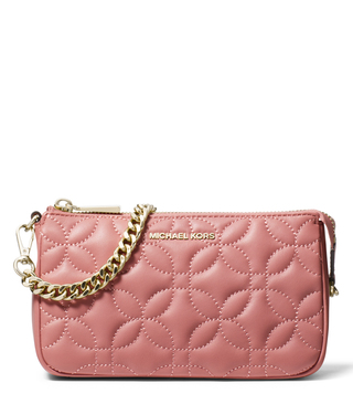d9b51b272e53e MICHAEL Michael Kors Rose Zipper Medium Clutch ...