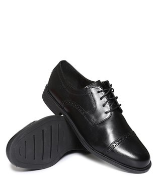 Cole Haan Black Ross Dustin Cap Toe Derby Shoes