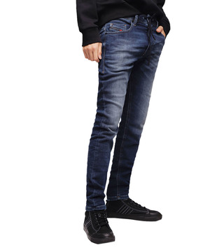 Diesel Lightly Washed Blue Thommer Cb-Ne Sweat Skinny Jeans