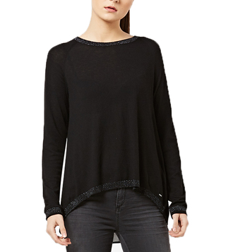 Gas Black Desyre Regular Fit Top