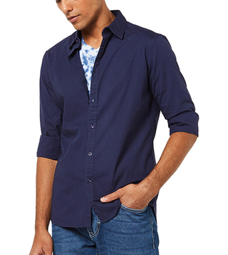 Gas Navy Andrew New Slim Fit Casual Shirt