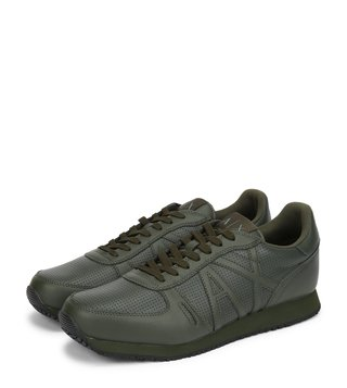 Armani Exchange Climbing Perforated Retro Logo Low-Top Sneakers