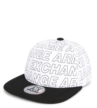 8db7f2f9aabb16 Armani Exchange Bianco Printed Cap ...