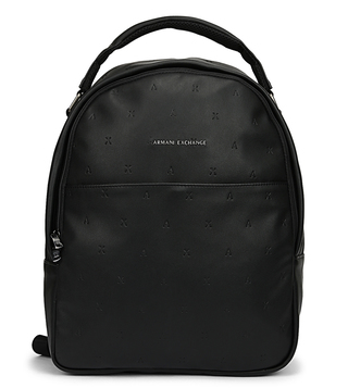 56a4ce751f5a Armani Exchange Nero Classic Large Backpack ...